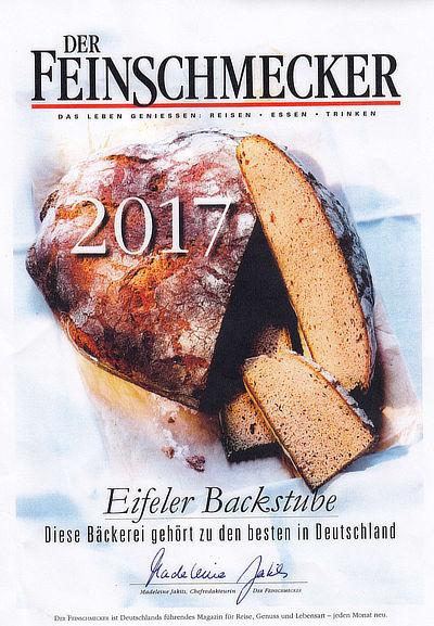 Feinschmecker Auszeichnung 2017